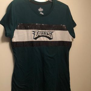Eagles sequin tee size large